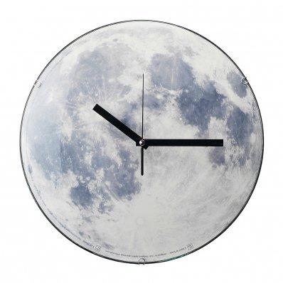 Zegar Księżyc - świecący w ciemności