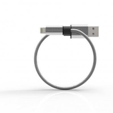Stalowy przewód do iPhone'a Armour Loop z brelokiem