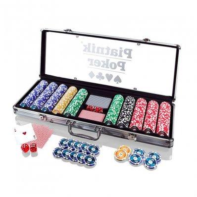 Pokerowe Żetony Piatnik z nominałami - komplet 500 sztuk