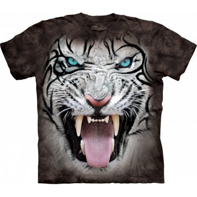 Koszulka 3D The Mountain Tribal White Tiger Black