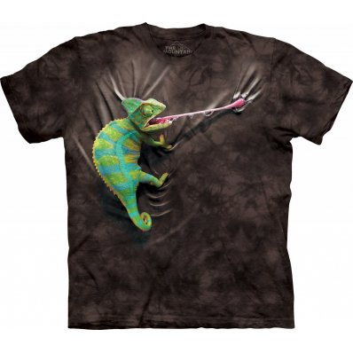 Koszulka 3D The Mountain Climbing Chameleon Black