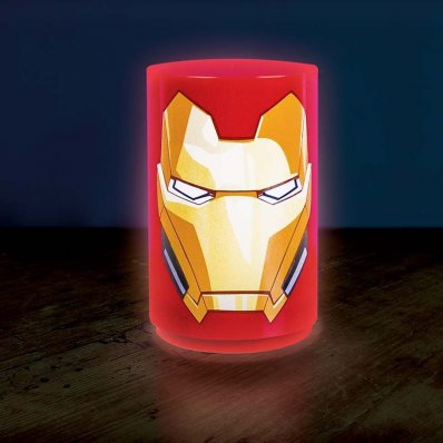 Lampa Marvel Iron Man - design hełmu zbroi Mark III
