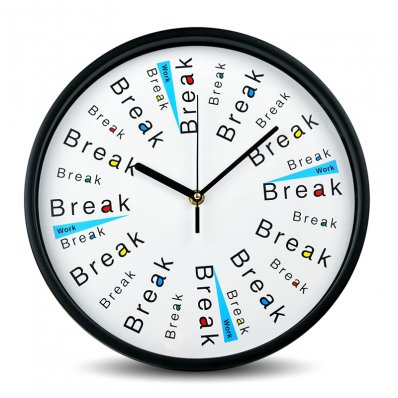 Zegar dla zrelaksowanych - najpierw przyjemności, potem praca