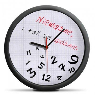 Zegar Spóźnialskich - lepiej późno, niż później!
