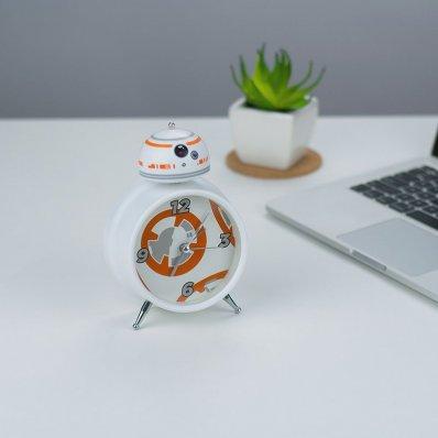 Budzik Star Wars BB-8 - wyposażony w oryginalne dźwięki z filmu