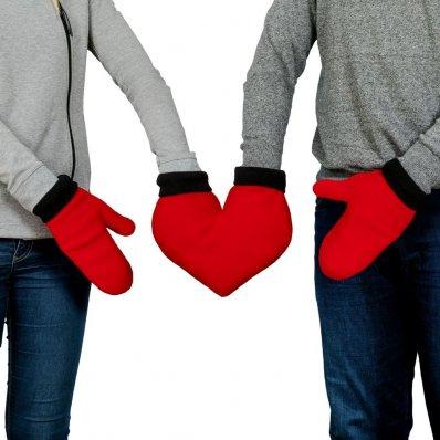 Rękawiczki dla zakochanych - idealne na Walentynki i każdy zimowy spacer