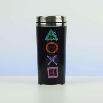 Kubek termiczny Playstation - nie zapisuj gry, zalej kubek kawą i chwyć za pada!