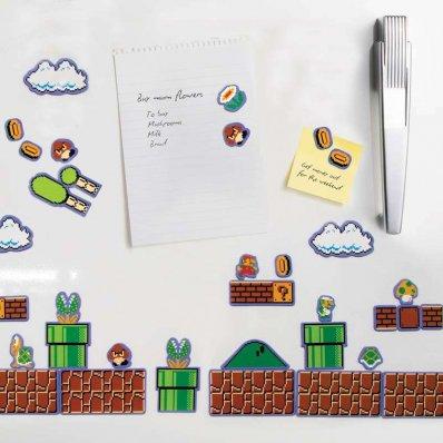 Magnesy na lodówkę Super Mario Bros. - 80 modułowych magnesów prosto ze świata Mario