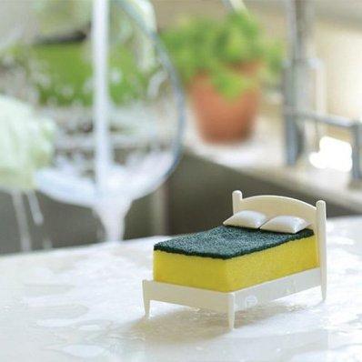 Łóżeczko dla zmywaka - Czystych Snów, daj odpocząć gąbce do zmywania.