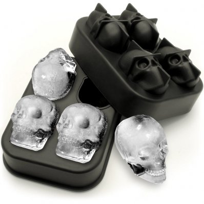 Czaszkowa Foremka Do Lodu - uzyskaj 4 idealne lodowe czaszki i ciesz się whisky na kościach.