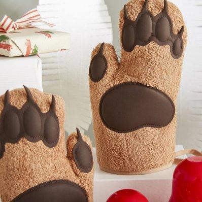 Kuchenne Łapy Niedźwiedzia - owłosione, bezpieczne, misiowe rękawice