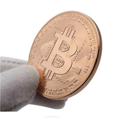 Bitcoin BTC w kapslu - moneta kolekcjonerska