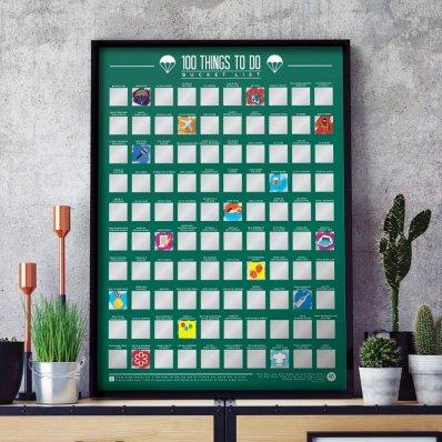 Plakat Zdrapka 100 rzeczy do zrobienia