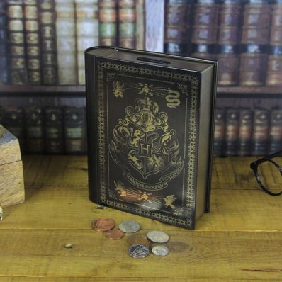 Skarbonka Książka Harry Potter Herb Hogwartu