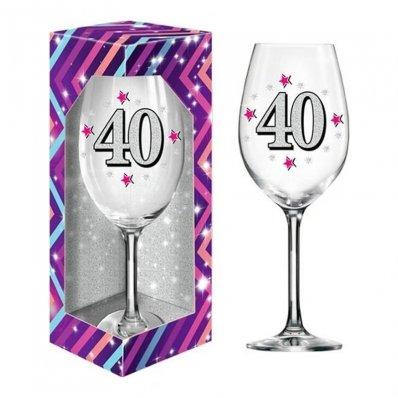 Kieliszek Do Wina XXL Na 40 urodziny