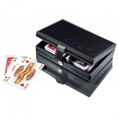 Karty Piatnik Lux w pudełku z eko skóry