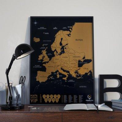 Mapka Zdrapka - Europa - zwiedź ją całą!