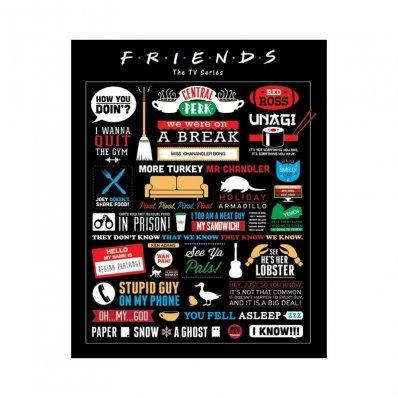 Plakat Friends - Przyjaciele Piktogramy 50x40cm