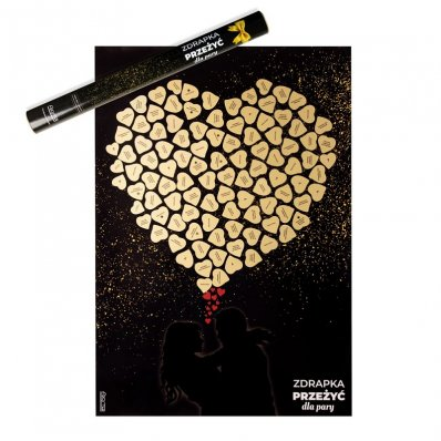 Plakat Zdrapka 100 przeżyć dla pary