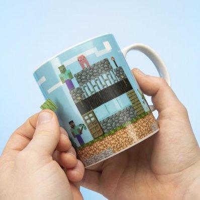 Kubek Minecraft z naklejkami