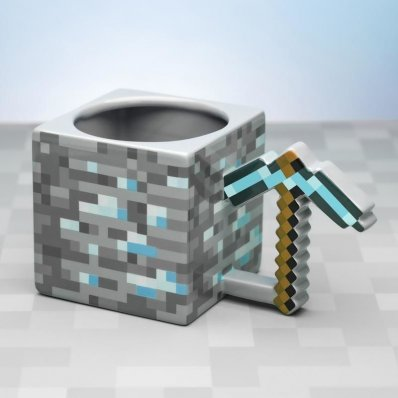 Kubek Minecraft Kilof XXL