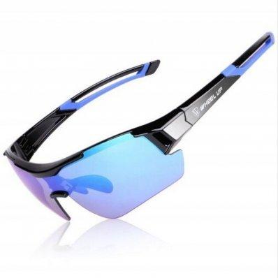 Okulary sportowe w etui 3x szkła Wheel Up