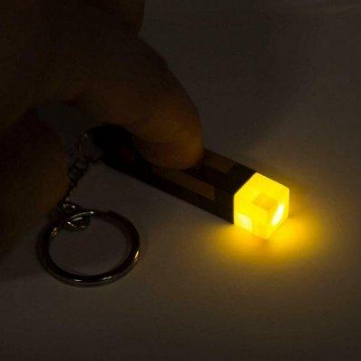 Świecący brelok Minecraft Torch