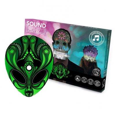 Maska świecąca w rytmie muzyki