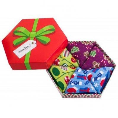 Skarpetki Świąteczne Ozdoby – Zestaw 3 Par