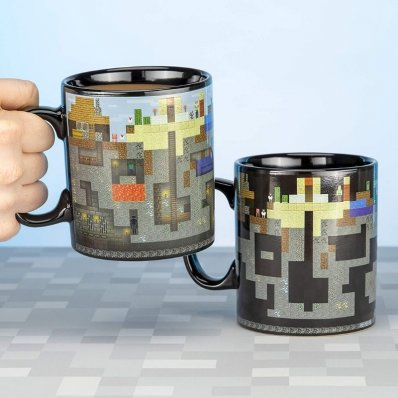 Kubek Minecraft XXL Wrażliwy na ciepło