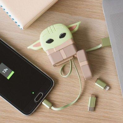 Kabel 3w1 w etui Star Wars Baby Yoda