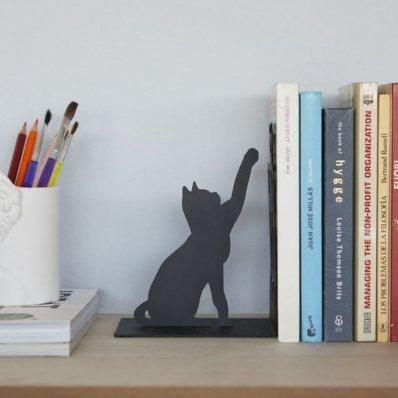 Podpórka do książek Kot