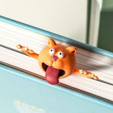 Zakładka do książki Kot 3D