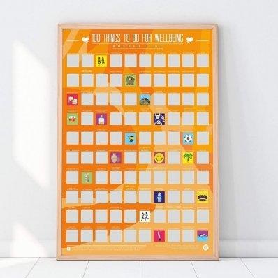 Plakat Zdrapka 100 rzeczy dla lepszego samopoczucia