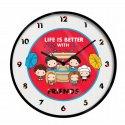 Zegar ścienny Friends Life is better