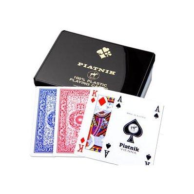 Plastikowe Karty Piatnik - 2 talie 55 kart wysokiej klasy