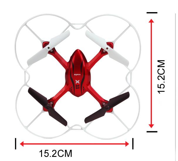 Dron latający - wymiary