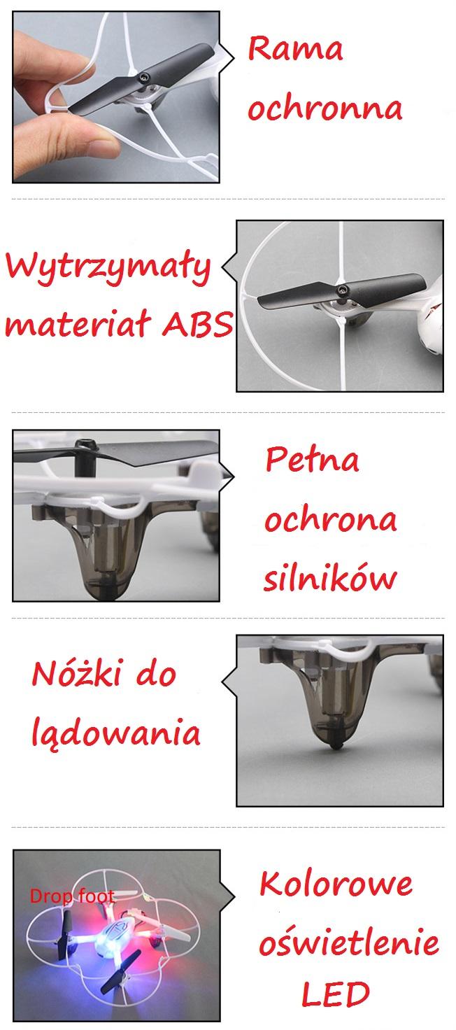 Solidne wykonanie drona Syma X11