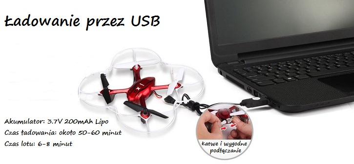 Dron latający Syma X11C - ładowanie