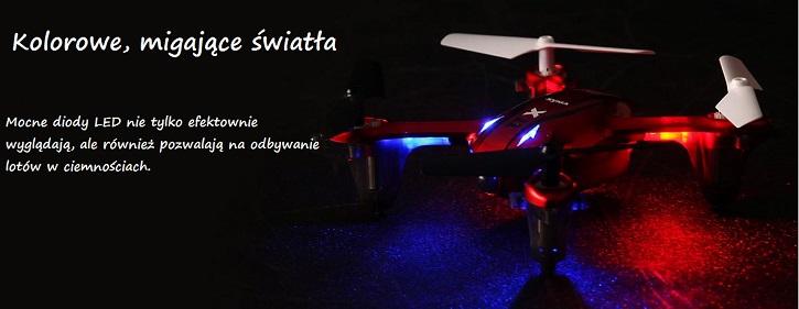 Oświetlenie LED-owe drona latającego