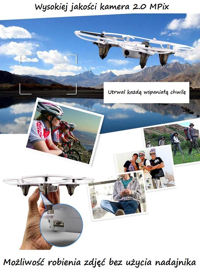 Dron latający Syma X11 - funkcje kamery