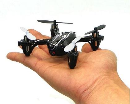 Dron latający Hubsan X4 - proporcyjne wymiary