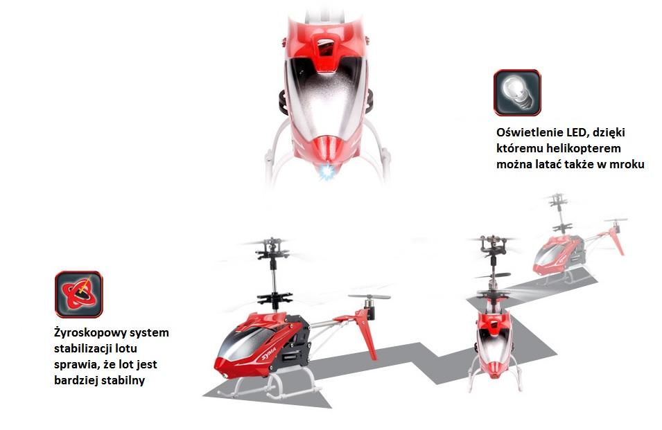 Helikopter zdalnie sterowany Syma S5 - żyroskop i oświetlenie LED