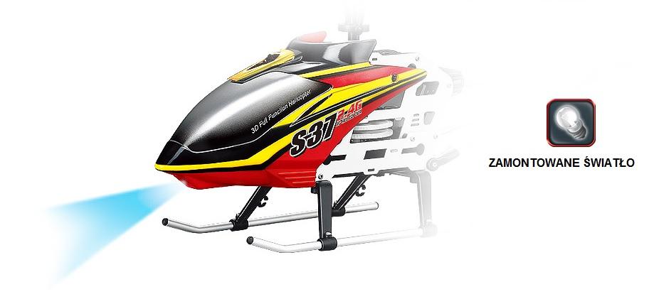 Helikopter zdalnie sterowany Syma S37 z wmontowanym oświetleniem