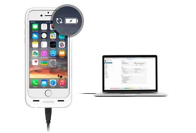 Równoległe ładowanie iPhone'a i ładowarki