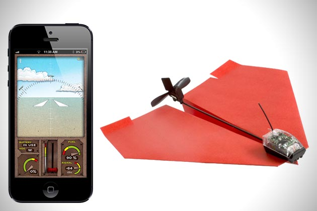 Papierowy samolot na smartfon
