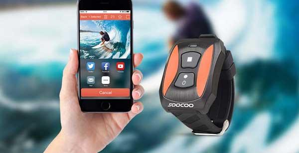 Kamera sportowa Soocoo S60 - wyświeltacz