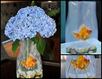 Rosnący wazon Reva - złota rybka