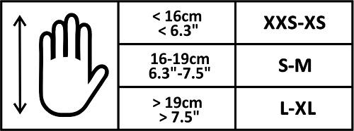 Ogrzewane rękawice Glovii - rozmiary