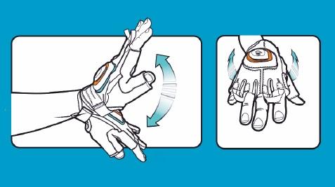 Rękawiczki z kierunkowskazem